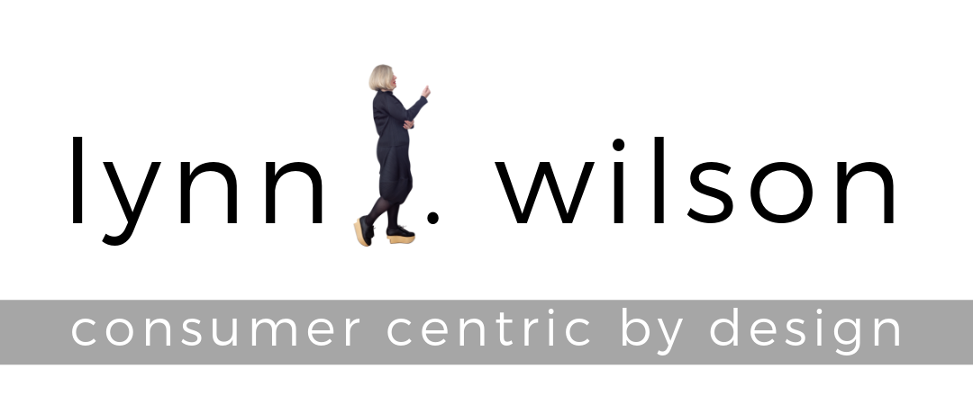 Lynn Wilson Logo with consumer centric by design